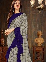 Weaving Grey Silk Saree