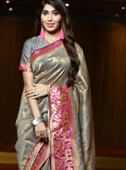 Weaving Grey Traditional Designer Saree