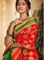 Weaving Handloom silk Classic Saree