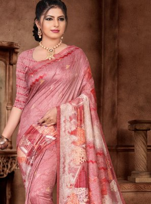 Weaving Hot Pink Classic Saree