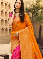 Weaving Jacquard Silk Designer Traditional Saree