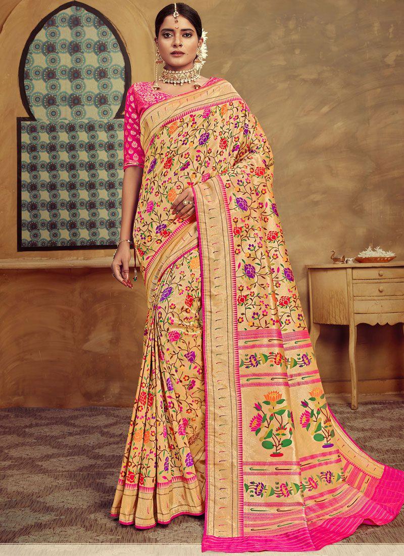 Weaving Multi Colour Designer Traditional Saree