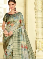 Weaving Multi Colour Silk Classic Saree