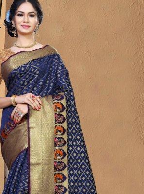Weaving Party Casual Saree