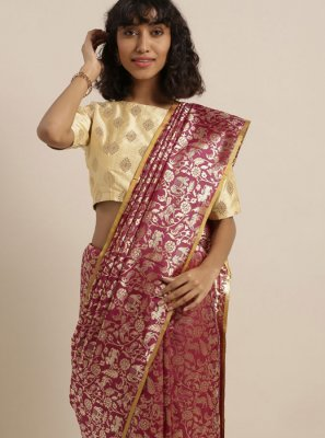 Weaving Party Traditional Saree