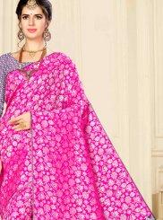 Weaving Pink Banarasi Silk Designer Saree