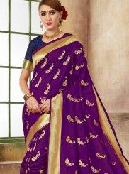 Weaving Purple Traditional Saree