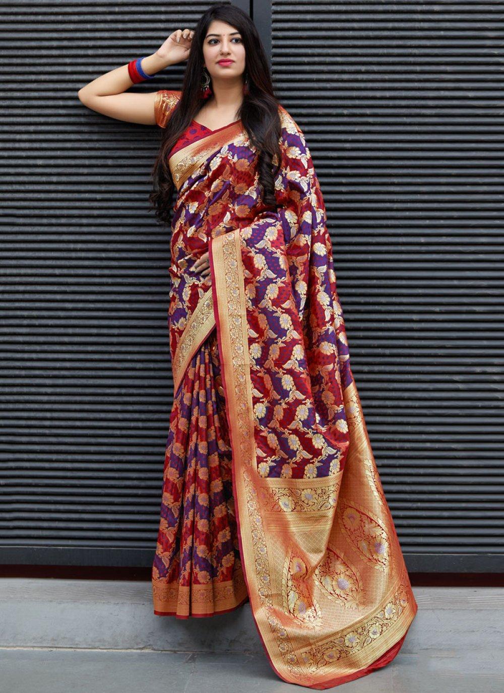 Weaving Satin Trendy Saree