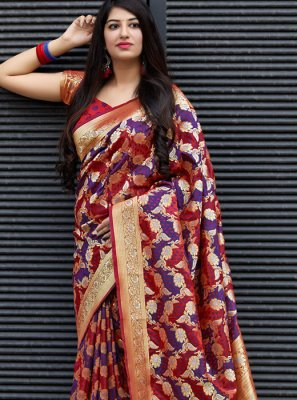 Weaving Satin Trendy Saree