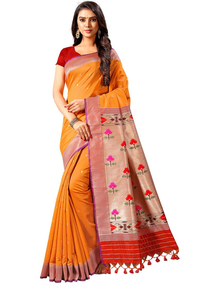 Weaving Silk Designer Traditional Saree