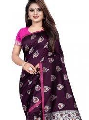 Weaving Silk Wine Classic Saree