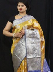 Weaving Tissue Traditional Designer Saree in Mustard