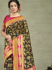 Weaving Tussar Silk Designer Traditional Saree