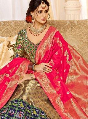 Weaving Wedding Designer Lehenga Choli