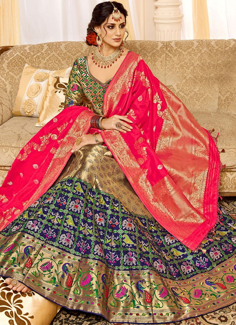 Weaving Wedding Designer Lehenga Choli