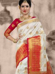 Weaving White Traditional Designer Saree