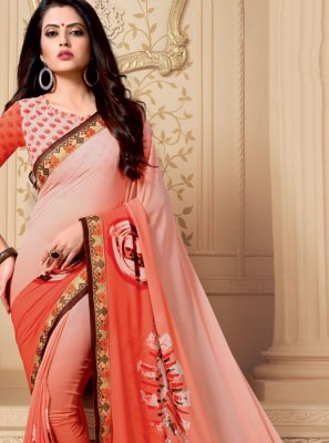 Weight Less Patch Border Casual Saree