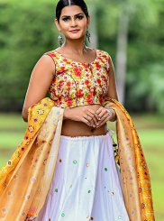 White Cotton Trendy Designer Lehenga Choli