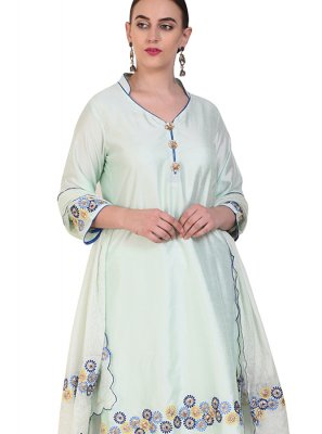 White Designer Salwar Suit