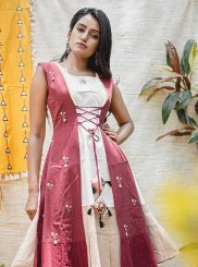 White Festival Khadi Party Wear Kurti