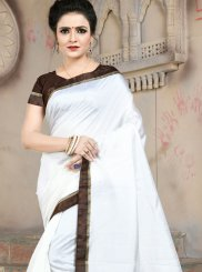 White Festival Traditional Saree