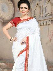 White Festival Traditional Saree
