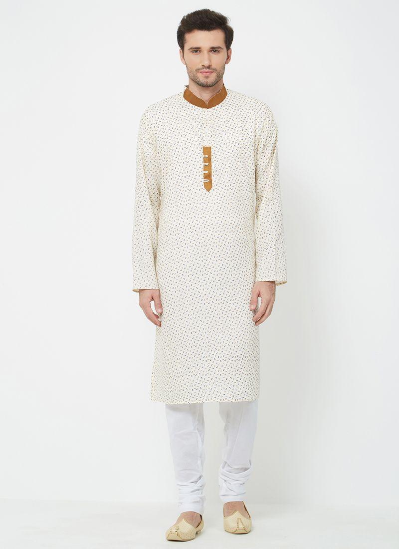 White Linen Kurta Pyjama