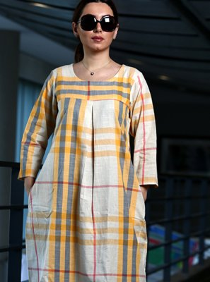 White Party Cotton Party Wear Kurti