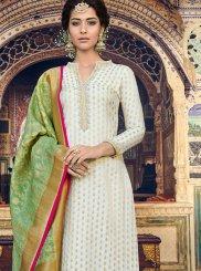 White Resham Designer Palazzo Suit