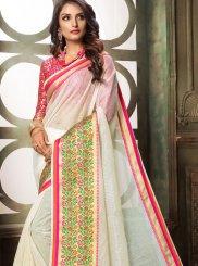 White Woven Classic Designer Saree