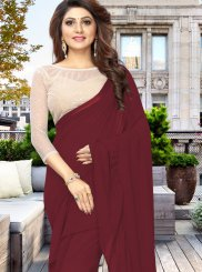 Wine Casual Casual Saree