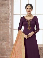 Wine Color Designer Pakistani Suit