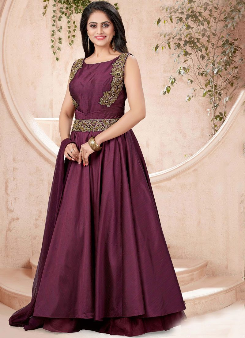 Wine Designer Gown