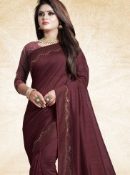 Wine Festival Art Silk Designer Traditional Saree