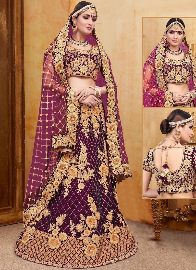 Wine Reception Trendy Designer Lehenga Choli