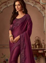 Wine Traditional Designer Saree