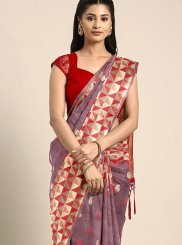 Wine Weaving Traditional Designer Saree