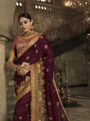 Wine Wedding Traditional Designer Saree