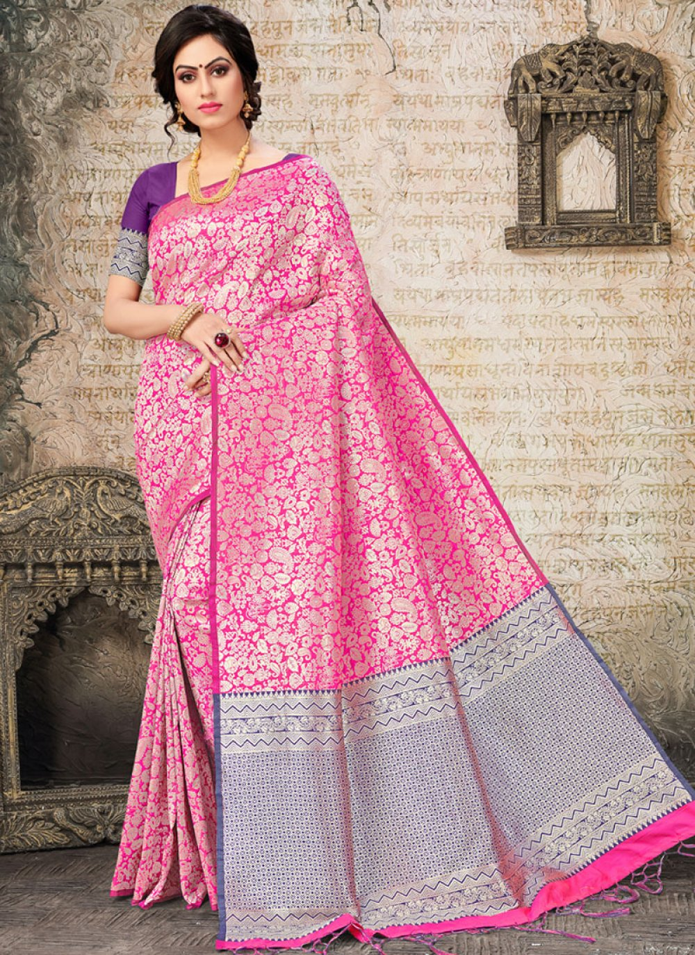 Woven Art Silk Designer Traditional Saree