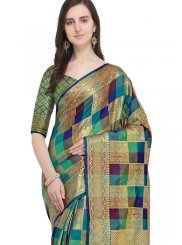 Woven Art Silk Designer Traditional Saree in Multi Colour