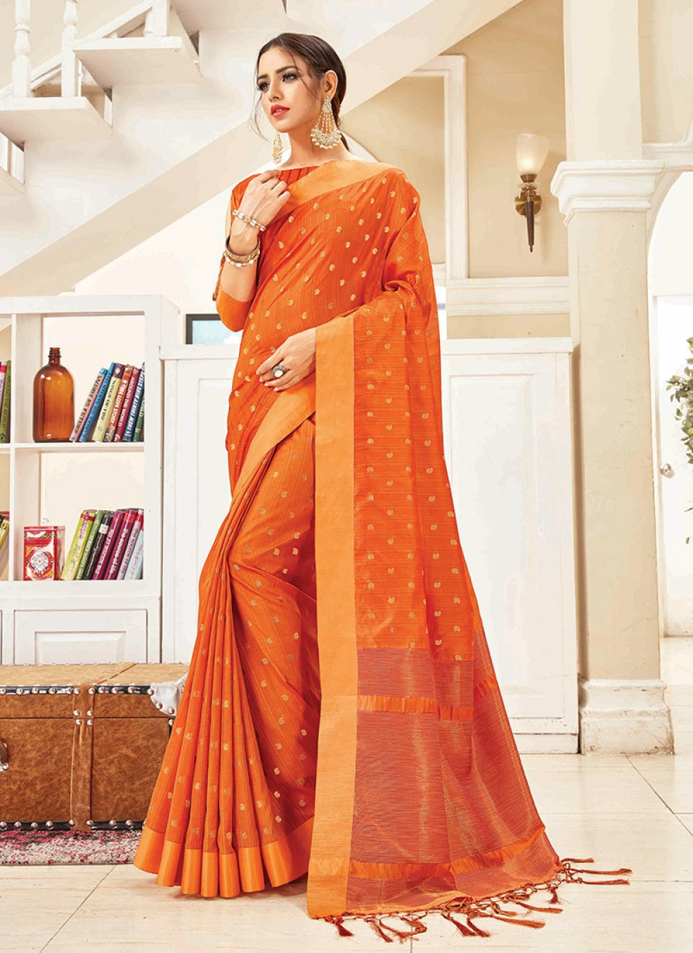 Woven Art Silk Traditional Designer Saree