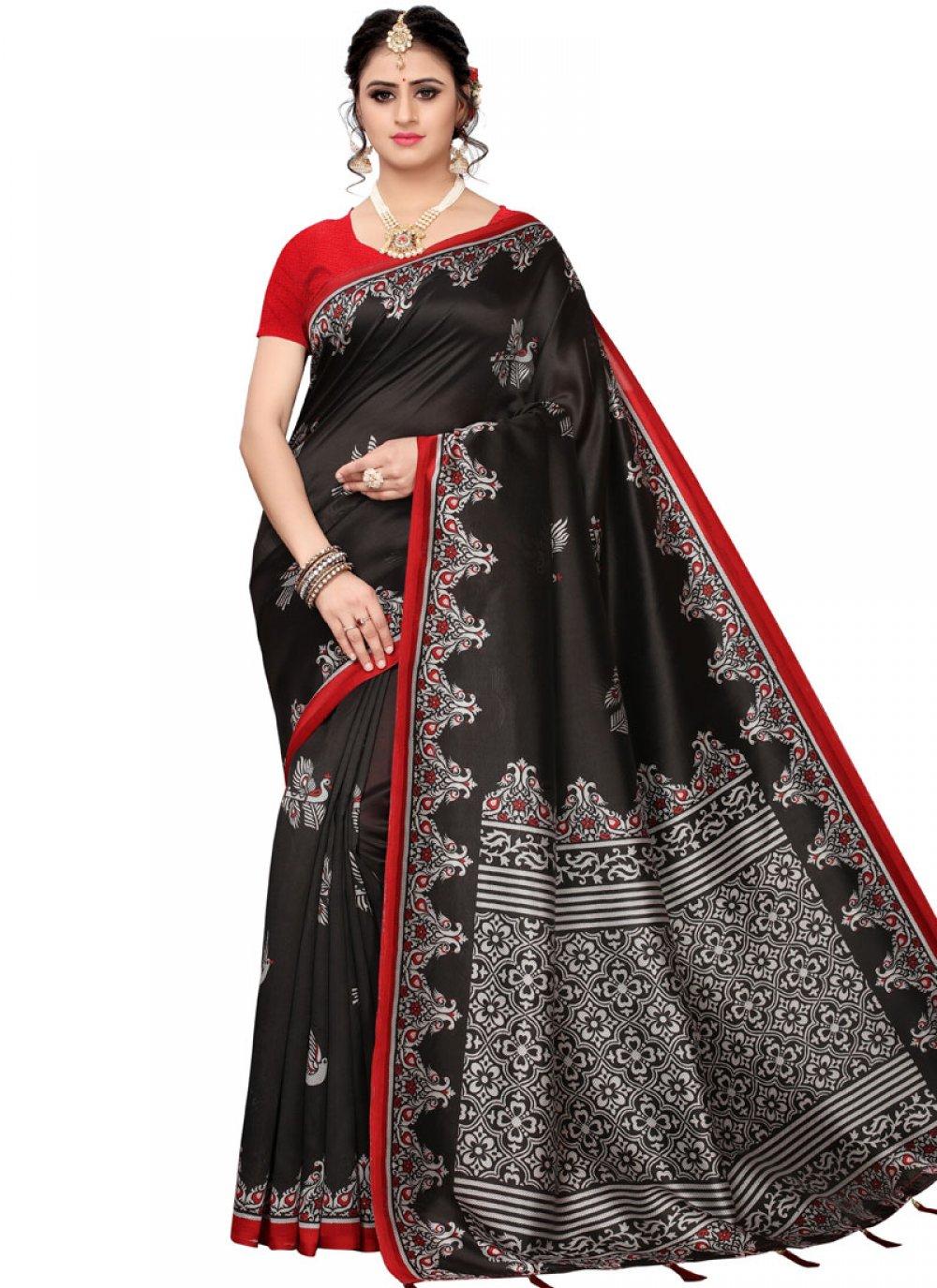 Woven Black Traditional Saree
