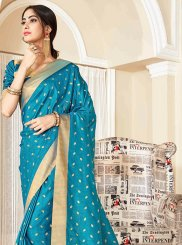 Woven Blue Traditional Designer Saree