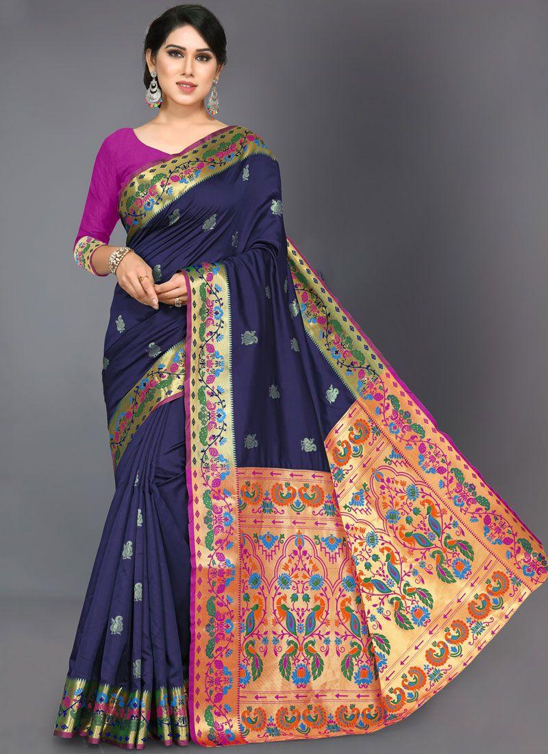 Woven Ceremonial Designer Traditional Saree