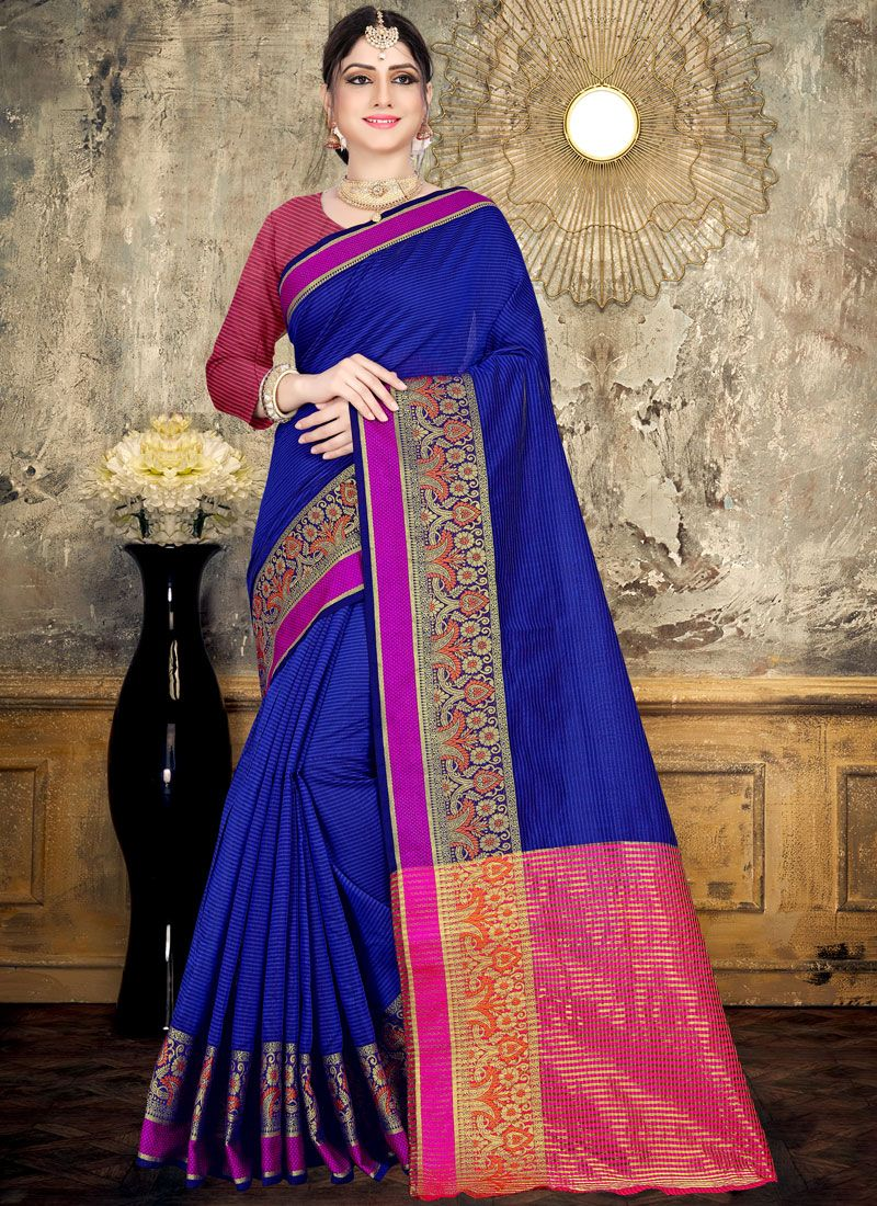 Woven Cotton Classic Saree