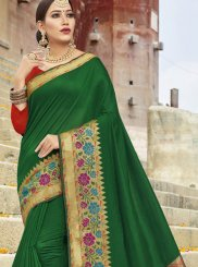 Woven Cotton Silk Traditional Designer Saree