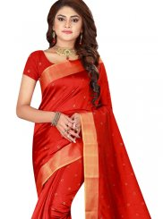 Woven Cotton Silk Trendy Saree