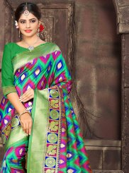 Woven Multi Colour Art Silk Traditional Saree