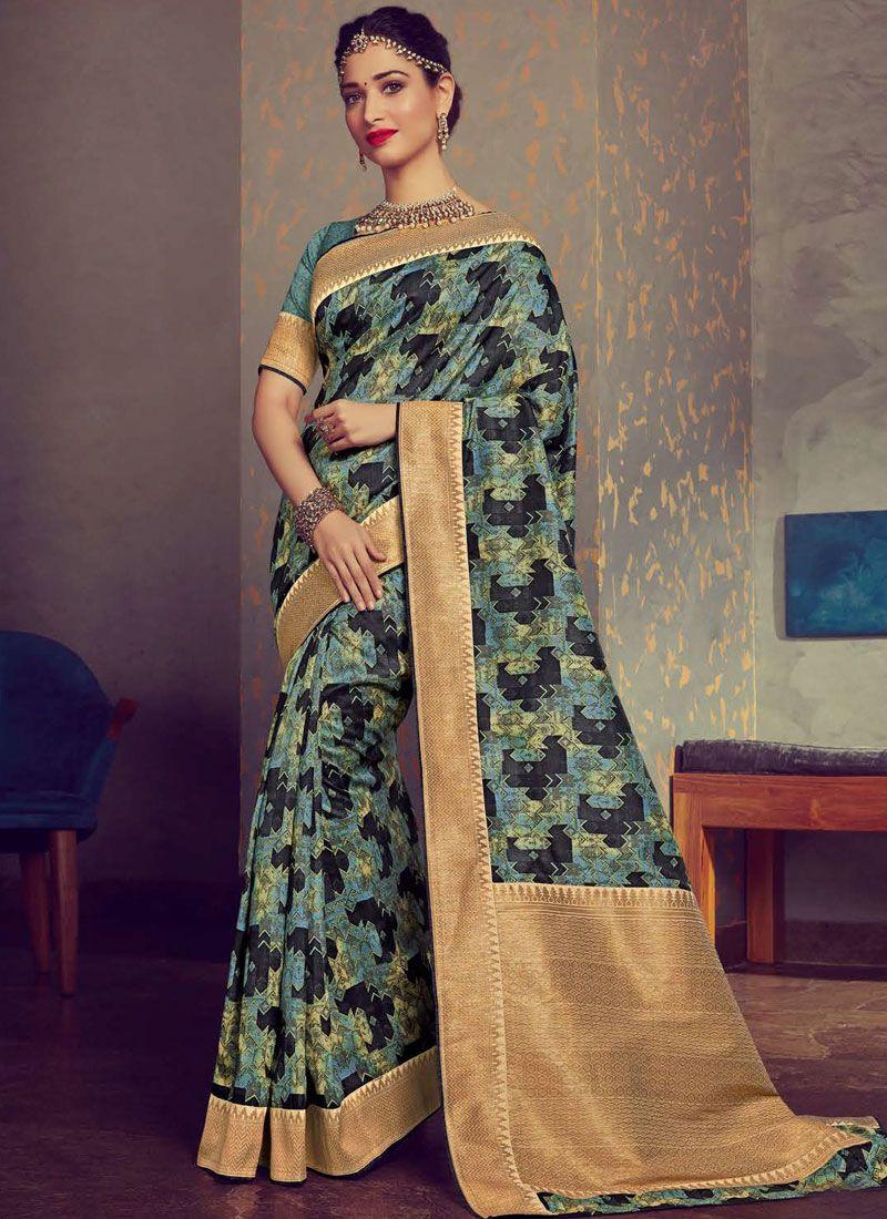 2a4b68e638 Shop Online Woven Multi Colour Tamannaah Bhatia Designer Traditional Saree  : 114945 -