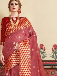 Woven Rust Designer Traditional Saree